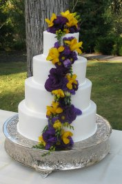 Late Summer Wedding Cake